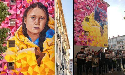 Vatan Partililer, iklim aktivisti Greta'nın yüzünü kapattı