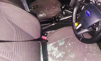 Çaldığı arabanın içinde kilitli kalan hırsızı polis kurtardı