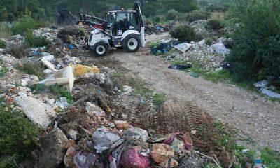 Bodrum'da ormandan çıkan 65 ton çöp görenleri şok etti
