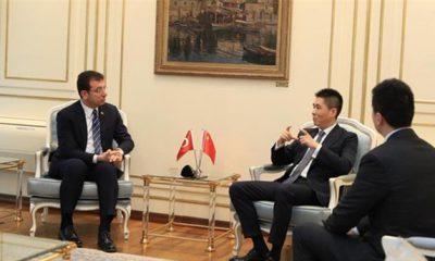 """Çin İstanbul Başkonsolosu Cui Wei'den Ekrem İmamoğlu'na """"Koronavirüs"""" ziyareti"""