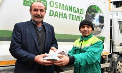 Temizlik işçisi çöpte bulduğu 110 bin lirayı sahibine teslim etti
