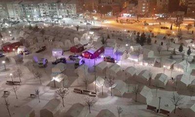 Depremzedeler eksi 15 derece soğukla mücadele ediyor