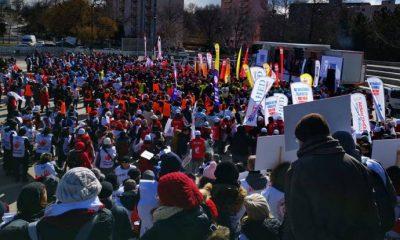 Sağlık çalışanları kaybettikleri hakları için Ankara'da buluştu