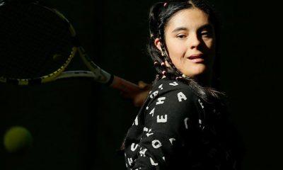 Down sendromlu milli tenisçi Berfin'in hedefi büyük