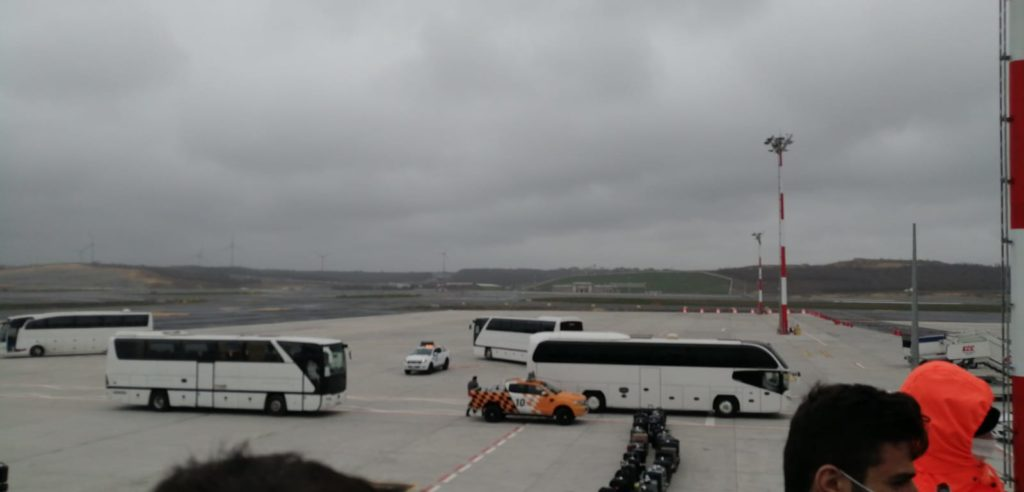 İstanbul Yeni Havalimanı'nda tedirgin eden görüntüler