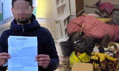 Kirasını ödeyemeyen vatandaşın kapısını çilingirle açtı, eşyalarını dışarı bıraktı