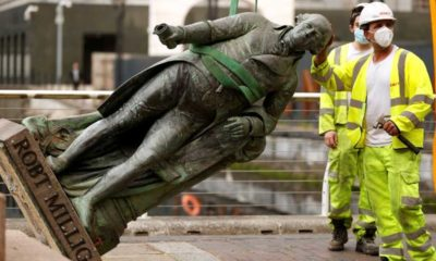 İngiltere'de bir köle tacirinin heykeli daha söküldü