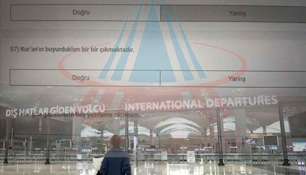 İstanbul Havalimanı'nda çalışanlara test: Hocaların dua okuyup üflemesi hastalığı iyileştirir