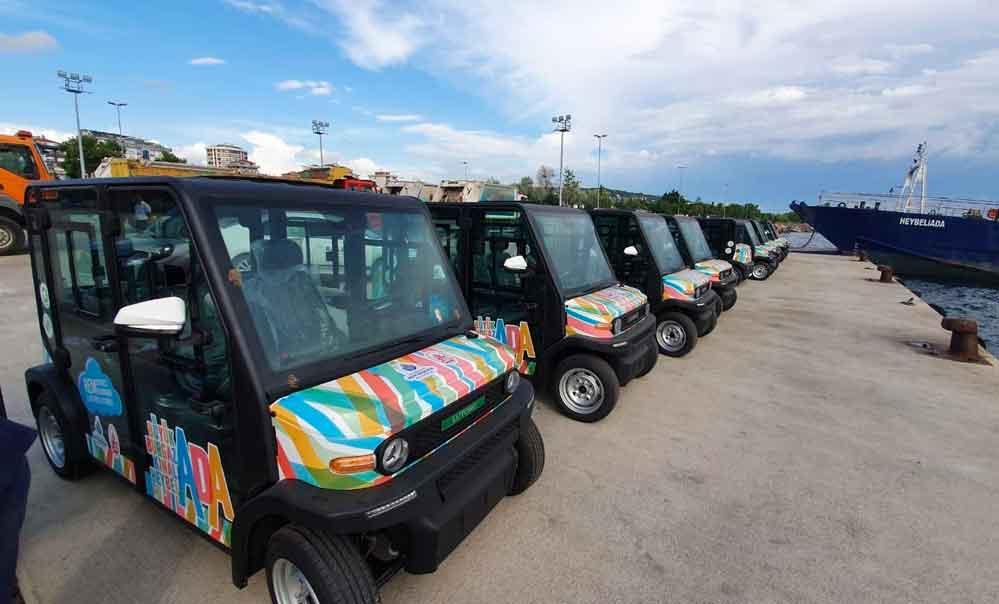 Adalar'da kullanılacak elektrikli araçlar görüntülendi