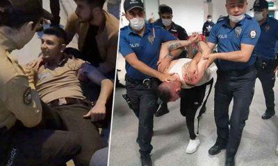 Cezaevinden izinli çıkmıştı, önce bekçiyi ezdi, sonra polis memurunun ayağını kırdı