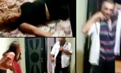 Görme engelli eşini çocuklarının gözü önünde bayıltana kadar dövdü