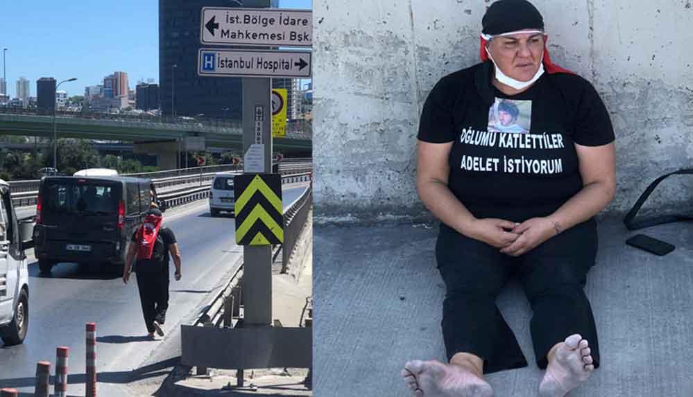 Oğlu öldürülen Anne, adalet talebi için Ankara'ya yürümeye başladı