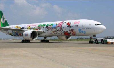 Tayvan'da uçak yolculuğunu özleyenlere Hello Kitty uçağıyla ülke turu