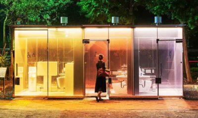 Tokyo sokaklarında 'şeffaf tuvaletler' kullanıma açıldı