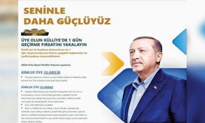 AK Parti teşkilatından 'üyelik' kampanyası: Külliye'de bir gün geçirme fırsatı