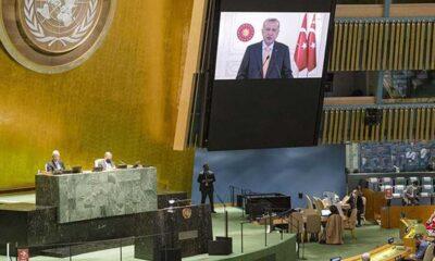 Erdoğan'ın sözleri üzerine İsrail'in BM Daimi Temsilcisi salonu terk etti