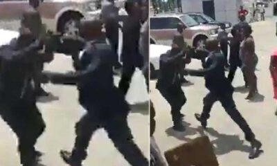 Gine Başkanı, Çalışma Bakanı'nı sokak ortasında tekme tokat dövdü