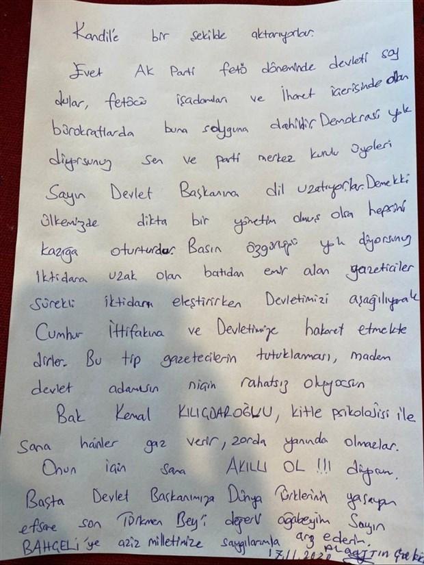 Alaattin Çakıcı'dan CHP Genel Başkanı Kılıçdaroğlu'na tehdit!