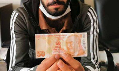 ATM'den çektiği 50 lirayı 75 bin liraya satışa çıkardı