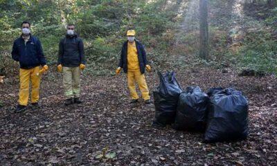 Belgrad Ormanı piknik alanlarında 22, orman derinliklerinde 9 ton çöp toplandı