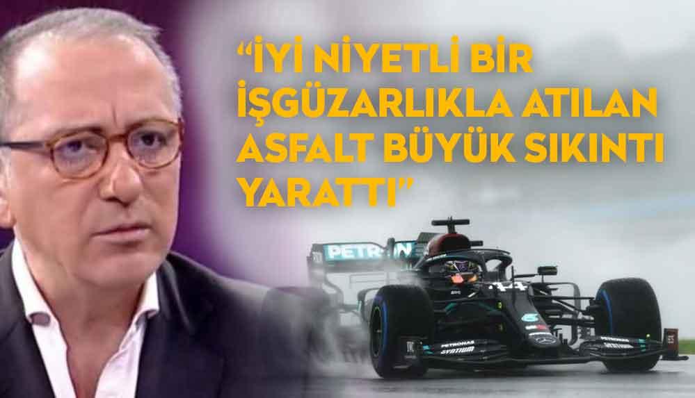 Fatih Altaylı'dan Formula 1 krizine ilişkin açıklama: Tüm pilotlar asfalttan şikayetçi