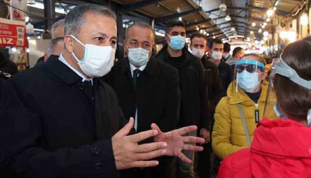 İstanbul Valisi Yerlikaya: Pazarın en seyrek olduğu vakitlerde vatandaşların gelmelerini sağlamak için indirimler yapılıyor