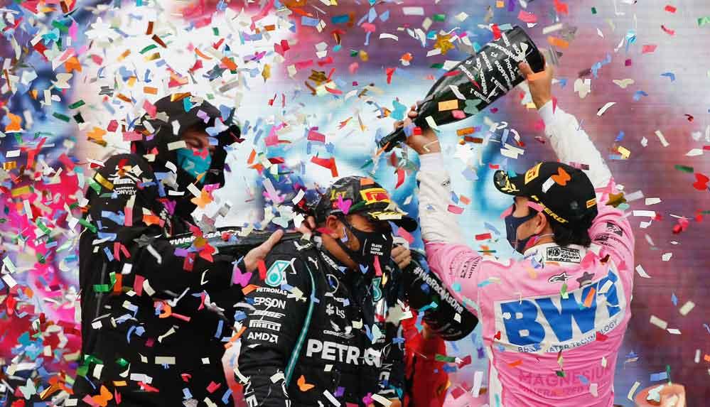 Mercedes takım patronu: Formula 1 kupa töreninde şampanya yerine gazoz verildi