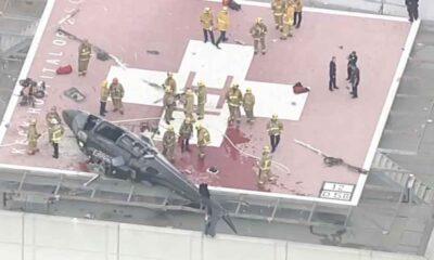 Nakil için kalp taşıyan helikopter, hastanenin pistine inerken kaza yaptı
