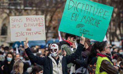 Paris sığınmacı şiddetine karşı ayakta
