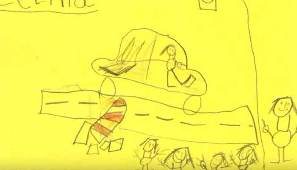 Polis, kaza yapıp kaçan sürücünün izini altı yaşındaki çocukların çizdiği resimlerle sürüyor