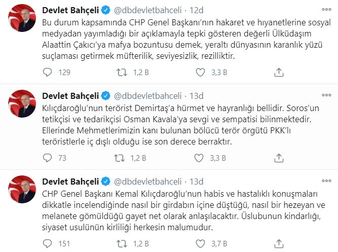 Bahçeli'den Kılıçdaroğlu'nu tehdit eden Çakıcı ile ilgili ilk açıklama: Alaattin Çakıcı dava arkadaşımdır!
