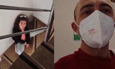 5 yaşındaki küçük kız koronavirüs olan babasına seslendi: Baba keşke yanına gelebilsem