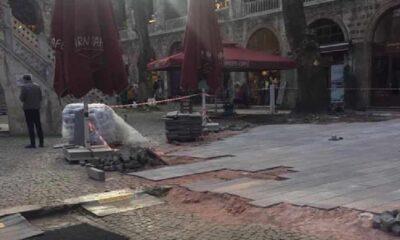 600 yıllık Osmanlı'dan kalma Koza Han'a beton döküldü