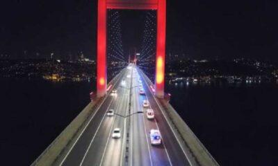 61 ambulans konvoyla Ankara'dan İstanbul'a ulaştı