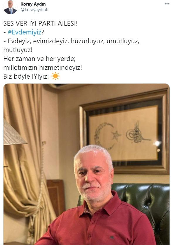 """Akşener'in """"Evime dönüyorum"""" yanıtı sosyal medyada kampanyaya dönüştü"""