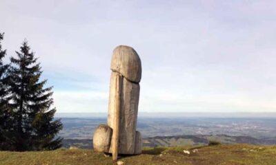 Alman polisi dev fallik anıtın kaybolmasıyla ilgili soruşturma başlattı