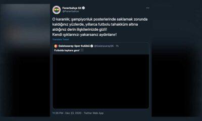 Galatasaray'ın 'kapkara gece' paylaşımına Fenerbahçe'den yanıt: Kendi ışıklarınızı yakarsanız aydınlanır!