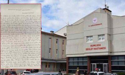 Kumluca Devlet Hastanesi'nde başhekimden hemşireye 'Ben salağım görev yerimi terk ettim' cezası