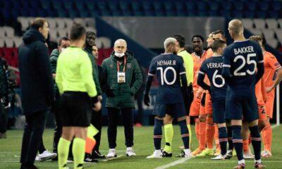PSG-Başakşehir maçı 'ırkçı saldırı' sebebiyle ertelendi