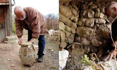 Terkedilen evde toprağa gömülmüş olarak bulundu