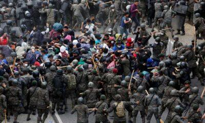 ABD'ye gitmeye çalışan göçmenlere Guatemala ordusundan sert müdahale