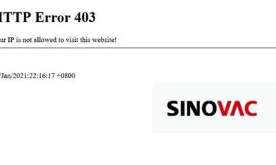Aşılamanın başlamasının ardından Sinovac şirketi, web sitesine Türkiye'den erişimi engelledi!