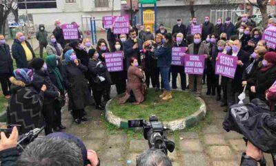 Bursalı kadınlardan cinayet mahallinde şiddet protestosu!