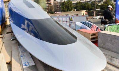 Çin'den saatte 620 kilometre hız yapabilen 'maglev' treni