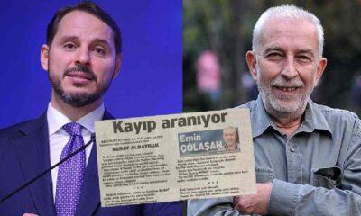 """Çölaşan, Berat Albayrak için kayıp ilanı verdi: """"Canımız BERAT'ımızdan bir haber alamıyoruz"""""""