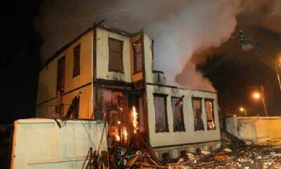 Edirne Müftülüğü yandı: Ahşap bina kullanılamaz hale geldi