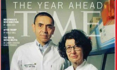 Prof. Dr. Uğur Şahin ve Özlem Türeci TIME dergisinin kapağında!