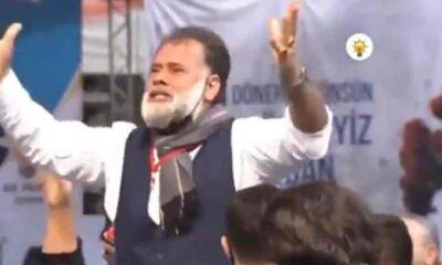 AKP kongresinde ilginç hareketler yapan adam: Beni ve sevgi gösterimi karaladılar