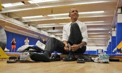 Barack Obama'nın ayakkabısı açık artırmada