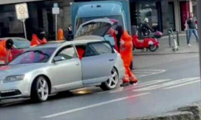 Berlin'de güpegündüz para nakil aracı soyuldu